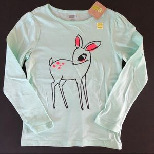 Crazy 8 deer top M 7 8 girls NWT